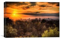 Sunset over Croydonia, Canvas Print