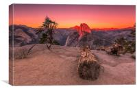 Half Dome At Sunset, Canvas Print