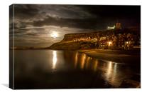 Moonlight over Whitby, Canvas Print