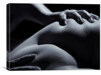 Bodyscape nude - gripping her bum, Canvas Print