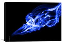 Nude in a Smoke Trail - blue, Canvas Print