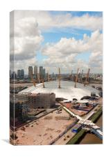 O2 London from cable car, Canvas Print