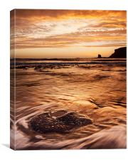 Black Nab Sunrise, Canvas Print