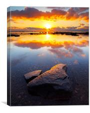 Blazing Sunrise, Canvas Print