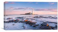 St Mary's Lighthouse Sunrise, Canvas Print