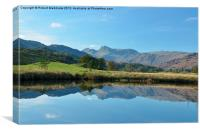 Langdale Pikes from Nr Elterwater, Canvas Print