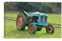 Old Blue Tractor, Canvas Print