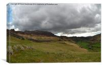 Hardknott Pass towards Eskdale, Canvas Print