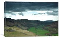 Dark Clouds Over Eskdale, Canvas Print