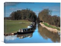 Ashby Canal Narrow Boats, Canvas Print