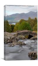 Ashness bridge motion, Canvas Print