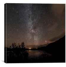 Milky Way over the Mound, Canvas Print