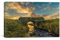 Sunset Beyond The Bridge, Canvas Print