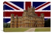 Downton Abbey Union Jack, Canvas Print