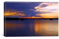 Sunset at Lake Martin Alabama, Canvas Print