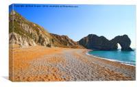 Durdle Door Beach Dorset, Canvas Print