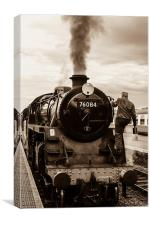 Steam Train at Sheringham, Canvas Print