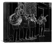 The Band Plays on, Canvas Print