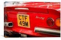Ferrari Dino GT, Canvas Print