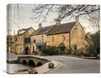 Beautiful Bourton On The Water, Canvas Print