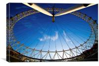 London Eye in the sky, Canvas Print