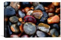 Pebbles on the beach, Canvas Print