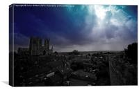 Storm over Lincoln, Canvas Print