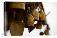 Bells at Big Buddha Phuket Thailand, Canvas Print
