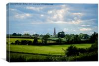 Walcot village Lincolnshire, Canvas Print