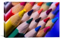 Colourful Crayons, Canvas Print