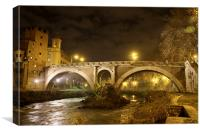 Ponte Fabricio, Canvas Print