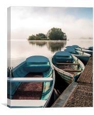 Llangorse Lake Boats, Canvas Print