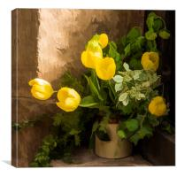 Tulips in the Porch  , Canvas Print