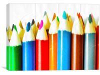 Colouring Pencils 2, Canvas Print