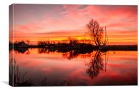 Thurne Windmill Sunset River Thurne, Canvas Print