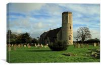 Somerton Church Norfolk, Canvas Print