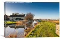 Somerton Boat Dyke Staithe, Canvas Print