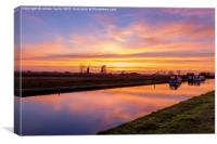 Sunset at Thurne Norfolk, Canvas Print
