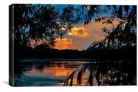 Reservoir Sunset, Canvas Print