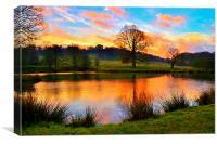 Sunrise at Hardwick, Canvas Print