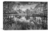 Lumsdale Middle Pond, Canvas Print