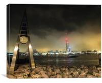 gosport clock and spinaker tower, Canvas Print