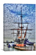 hdr warrior, Canvas Print
