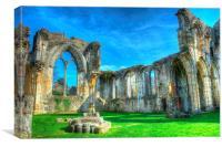 netley abbey ruin, Canvas Print