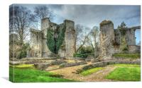 bishops waltham palace ruin, Canvas Print