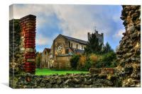 waltham abbey, Canvas Print