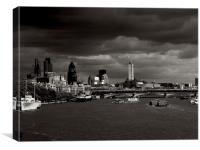 London River Thames, Canvas Print