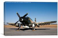 Douglas AD-6 Skyraider, Canvas Print