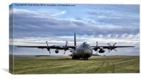 RAF C130K Mk 3A Hercules, Canvas Print
