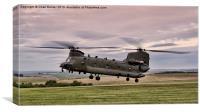 RAF Chinook CH-47, Canvas Print